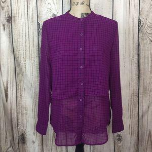 5/$18🔥SALE🔥Banana Republic Purple Layered Blouse
